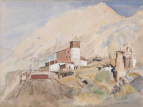 Ernst Huber (Vienna, 1895 - Vienna, 1960). The copper mine of El Volcan in Chile - photo 1