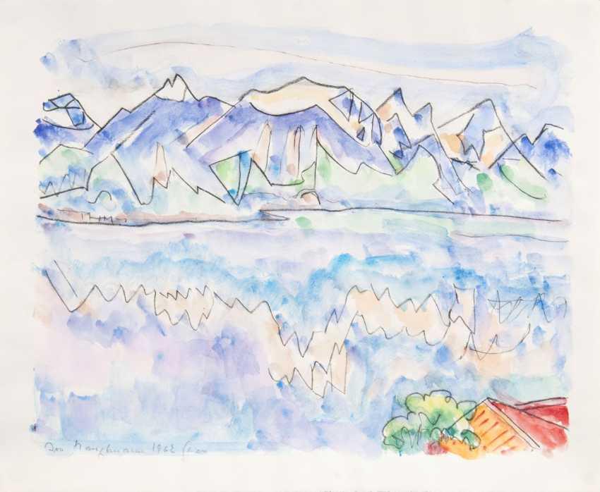 Ivo Hauptmann (Erkner 1886 - Hamburg 1973). In the Alps - photo 1