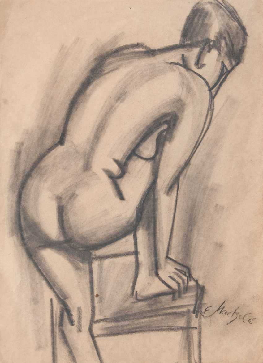 Emil Maetzel (Cuxhaven 1877 - Hamburg 1955). Nude and chair - photo 1