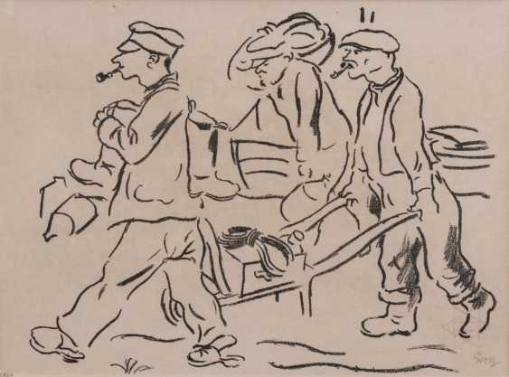 George Grosz (Berlin 1893 - Berlin-1959). Fishermen from Pomerania - photo 1