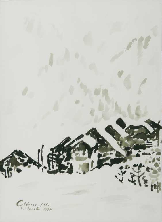 Siegward Sprotte (Potsdam 1913 - Kampen/Sylt 2004). Houses in Colfosco - photo 1