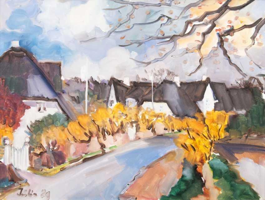 Julia Küchmeister (Hamburg 1932). Kampen Village Road Sylt - photo 1