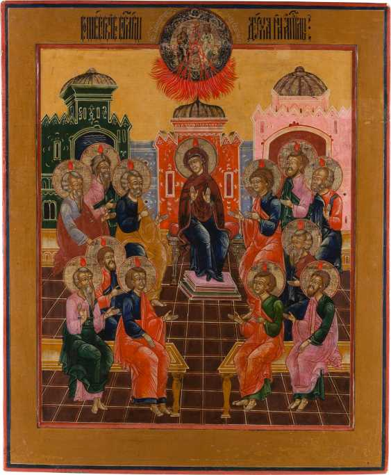 MONUMENTAL ICON WITH THE PUBLICATION OF THE HOLY SPIRIT (PENTECOST) Russia - photo 1