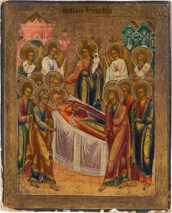 ICON WITH THE SLEEPING OF THE MOTHER OF GOD Russia - photo 1