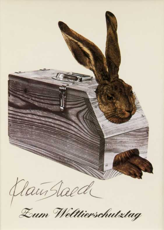 Klaus Staeck (Pulsnitz, 1938). To The World Animal Day - photo 1