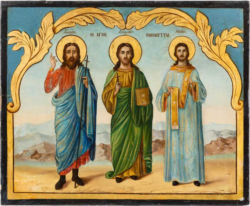 DATED ICON WITH THE SAINTS SAMON - photo 1