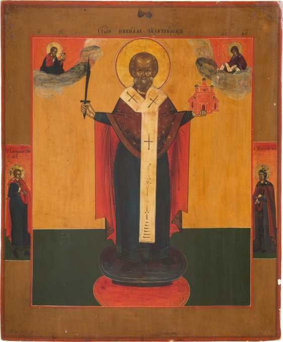 ICON WITH SAINT NICOLE OF MOSCHAISK Russia - photo 1
