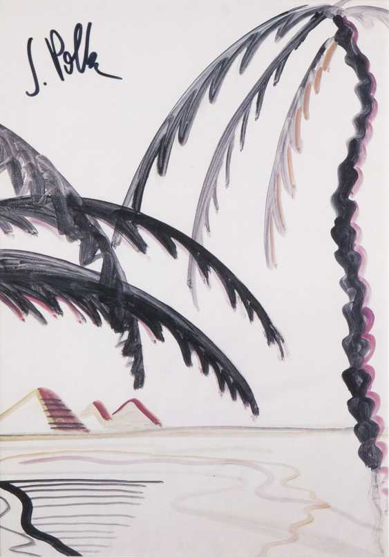 Sigmar Polke (Oels 1941 - Cologne 2010). Palm trees and pyramids - photo 1