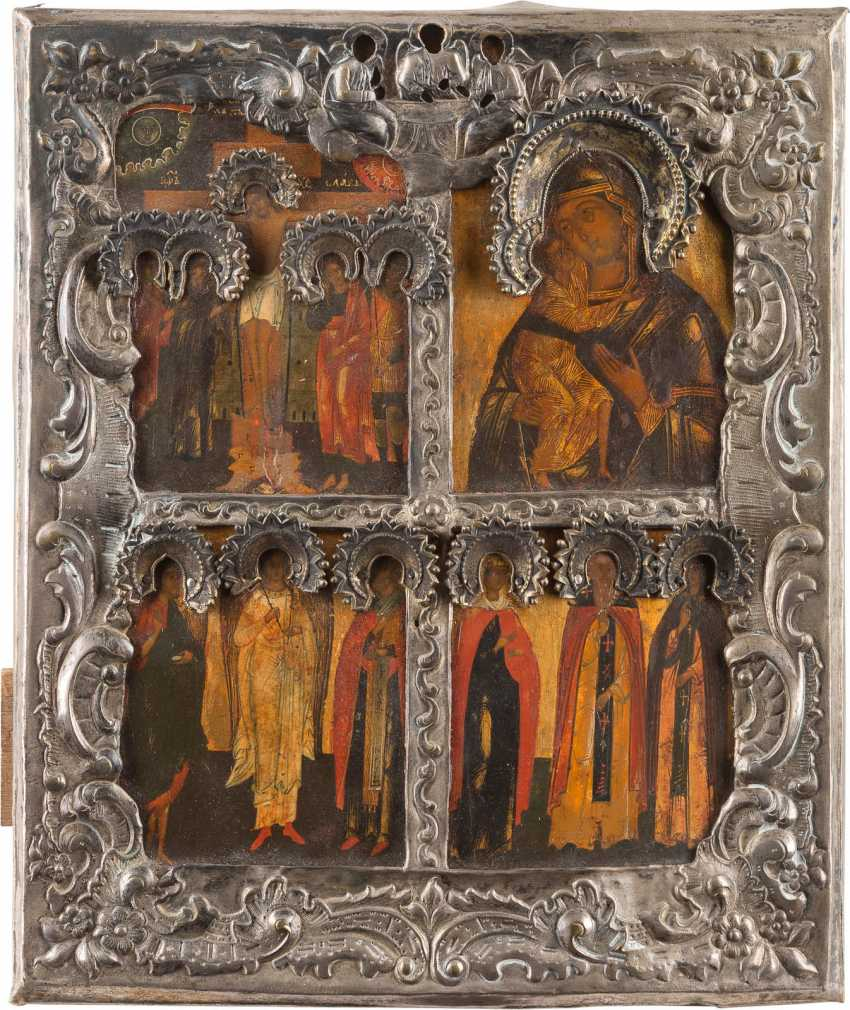 FOUR FIELDS ICON WITH THE CRUCIFIXION OF CHRIST - photo 1