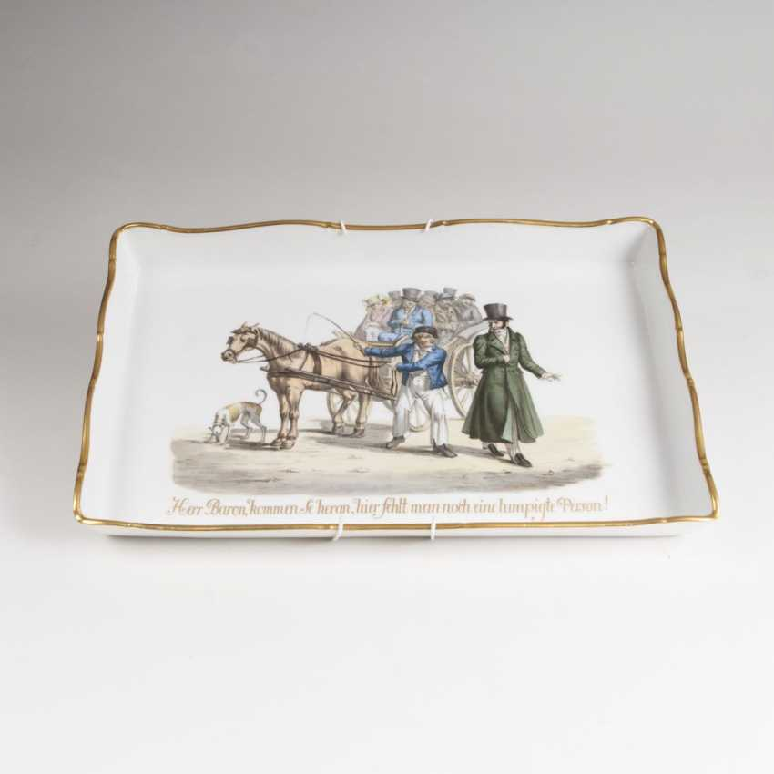 Porcelain picture plate with humoresker scene - photo 1