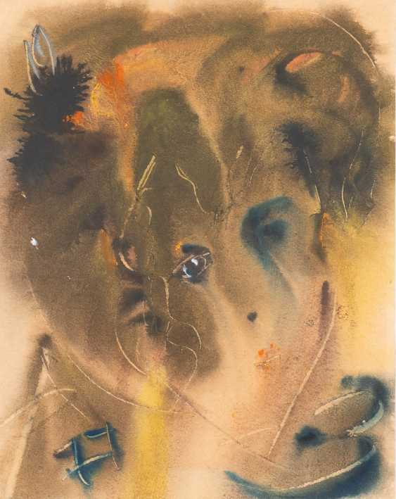 ANATOLIJ TIMOFEEWITSCH ZWEREW 1931 Moscow - 1986 Sviblovo District / Moscow Woman's head mixed media on paper. 47 cm x 37 - photo 1