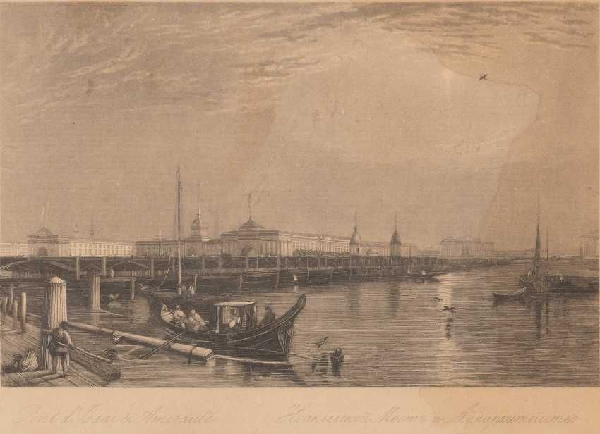 DIVERSE ARTISTS Active in the 19th century. Bundle of nine works. Steel engraving / lithography on paper. Max. Visible dimension: 17 - photo 5