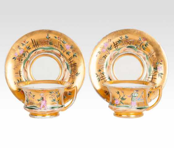 Pair of rare Russian cups with Chinoiserie decor - photo 1