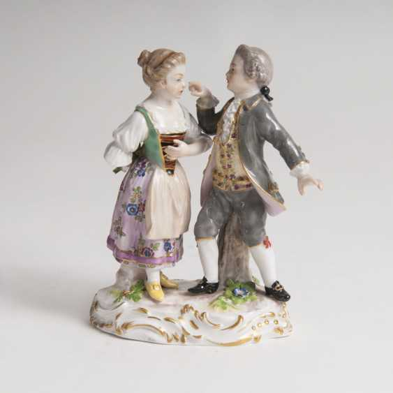 Porcelain group of 'cavalier' and girls' - photo 1