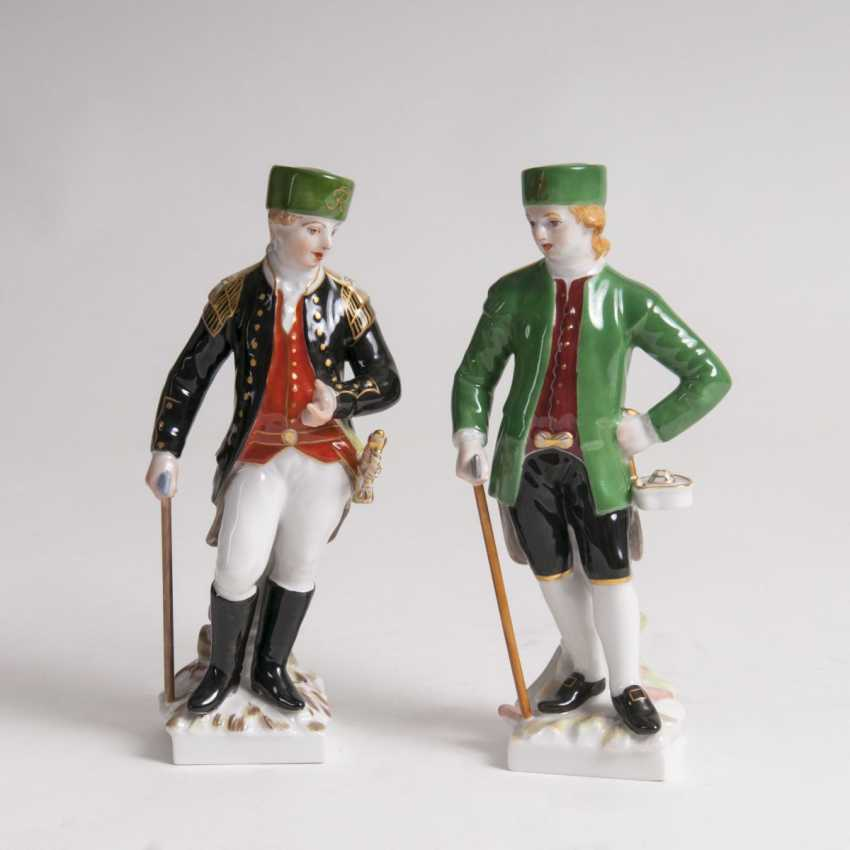 Pair of porcelain figures, 'Hanoverian and Prussian miners' - photo 1