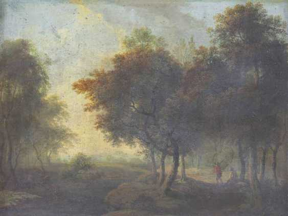 Pair of landscape paintings with figure staffage - photo 3