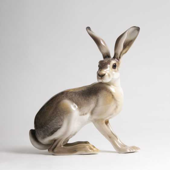 Theodor Kärner (Hohenberg/Eger 1885 - München 1966). Sitting Hare - photo 1