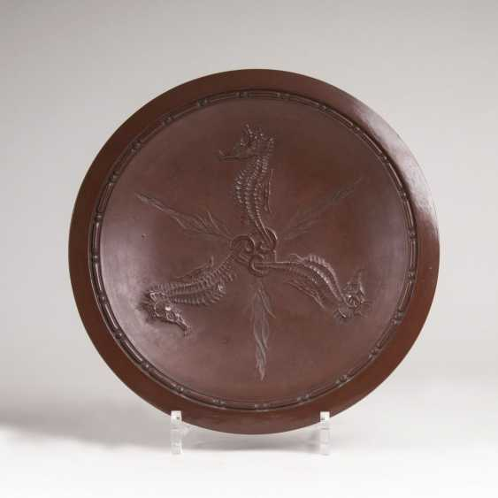 Cadinene dish with seahorse in Relief - photo 1