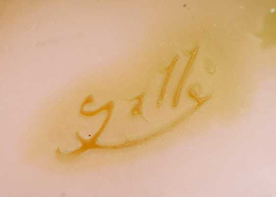 Emile Gallé (Nancy, 1846 - Nancy, 1904). Kleine bauchige Vase mit Rispenhortensie - photo 3