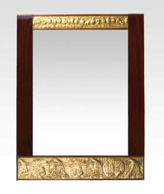 Art Nouveau mirror with brass ornaments - photo 1