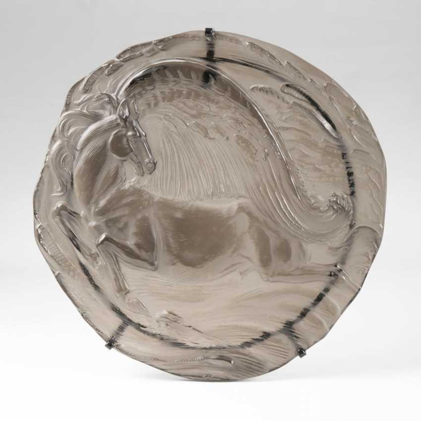 Ernst Fuchs (Wien 1930 - Vienna, 2015). In A Large Glass Relief 'Pegasus' - photo 1