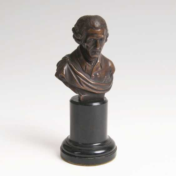 Small Bronze bust of 'Frederick the Great' - photo 1