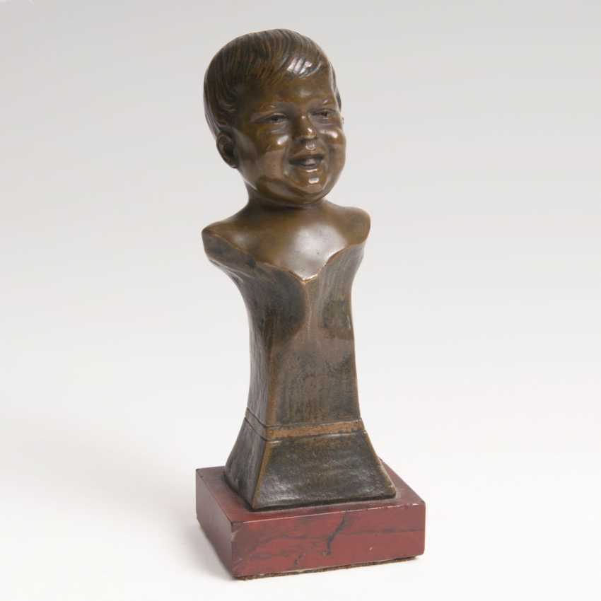 Small Bronze Bust Of 'Laughing Boy' - photo 1