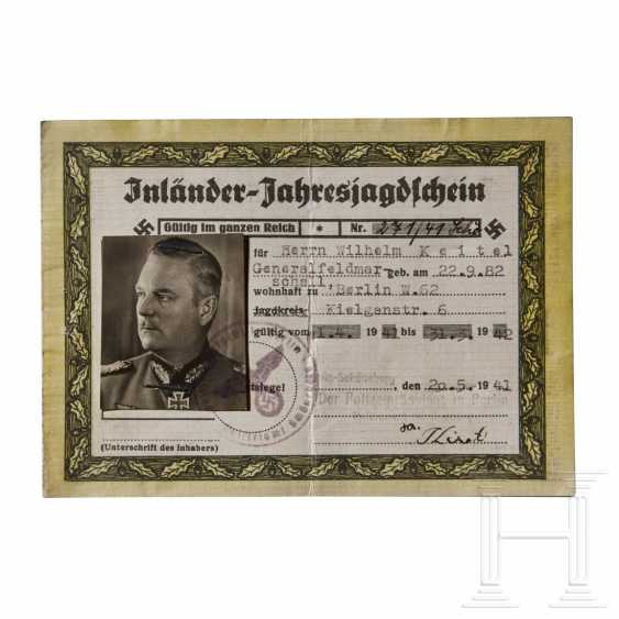 Generalfeldmarschall Wilhelm Keitel - a National Hunting License - photo 1
