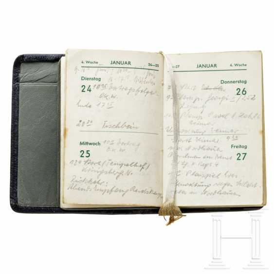Pocket calendar 1939, a personal present from Ernst Uset - photo 4