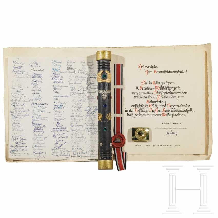 """Marshal's baton"" and documents from his time as federal leader of the Stahlhelmbund - photo 1"