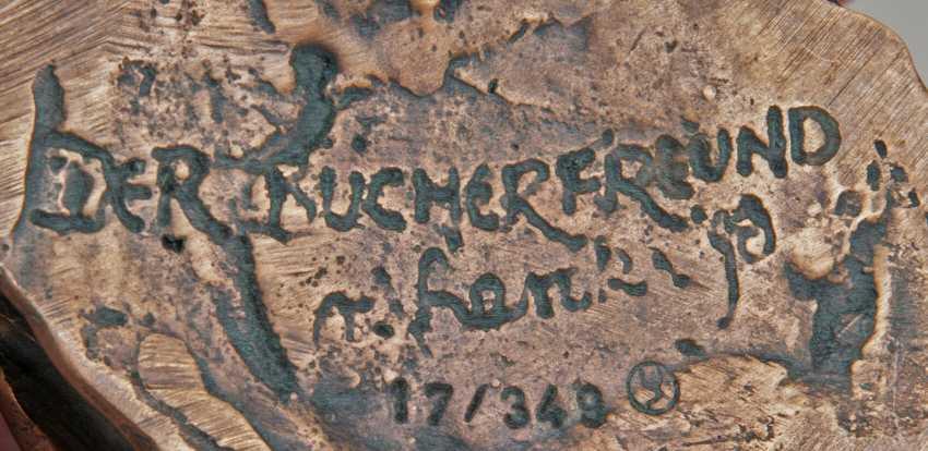 Rainer Hercks (Augsburg 1951 - Großaitingen near Augsburg, 2005). Bronze Sculpture, 'The Booklover' - photo 2