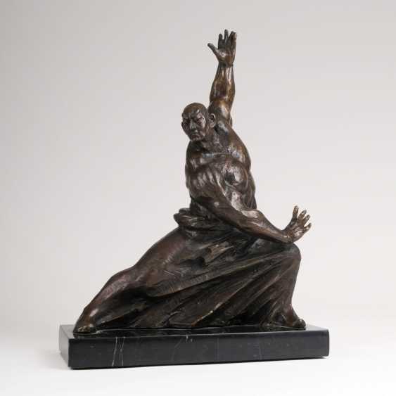 Wu Yao active around 2000. Bronze Sculpture 'Kung Fu Fighter' - photo 1