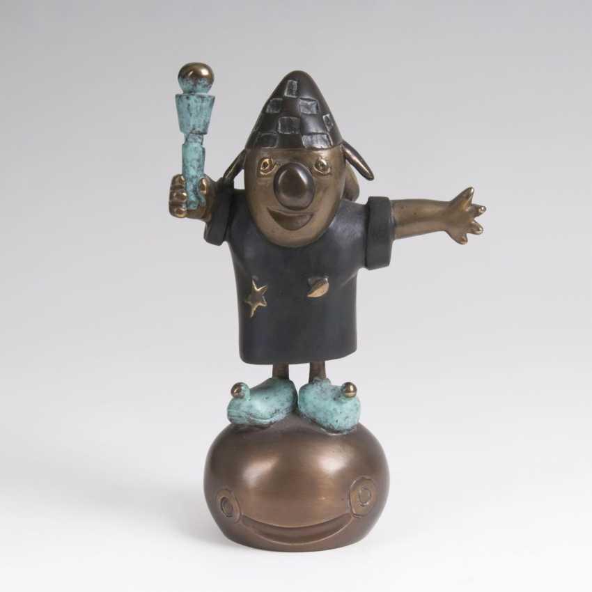 Otmar Alt (Wernigerode 1940). Bronze Sculpture 'Clown' - photo 1