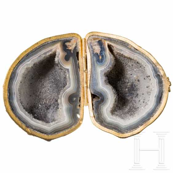 Mounted agate vein as a folding box, probably England, 19th century - photo 1