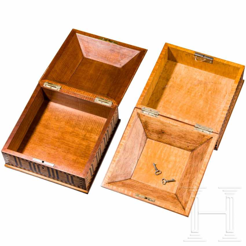 A pair of Art Deco wooden boxes with marquetry decor, Vienna, around 1910/20 - photo 3