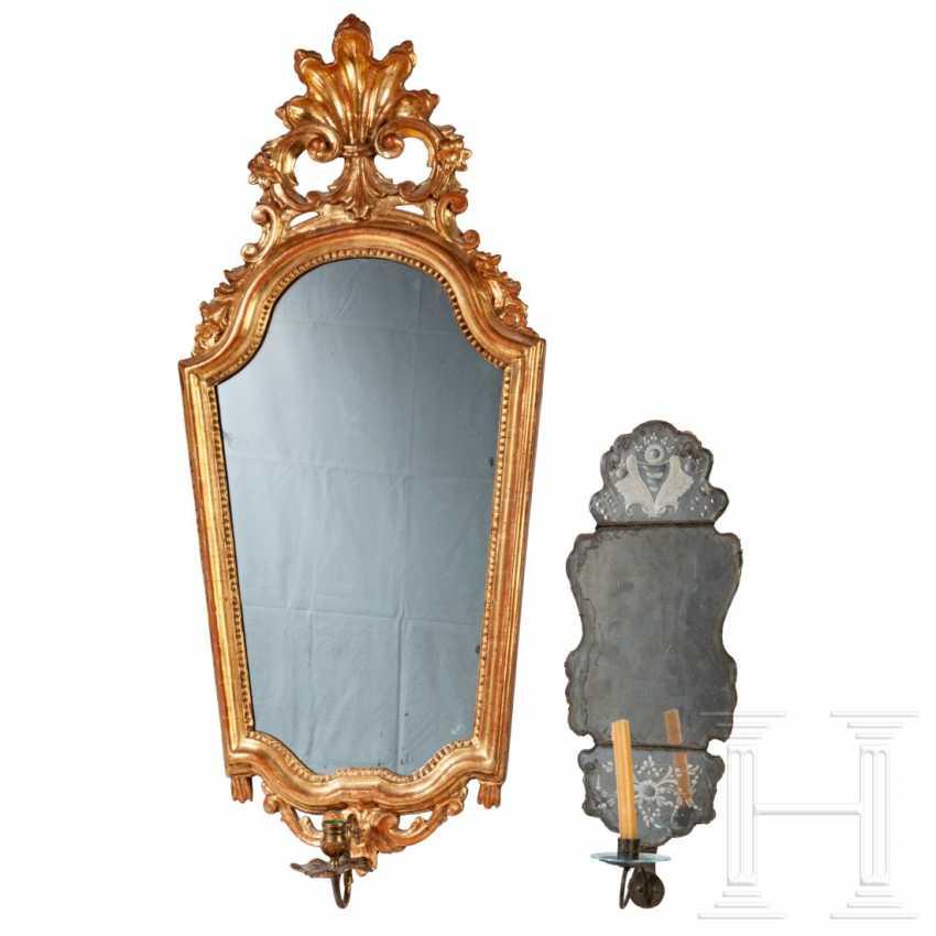 Two Rococo mirror appliqués, Germany, around 1760/80 - photo 1