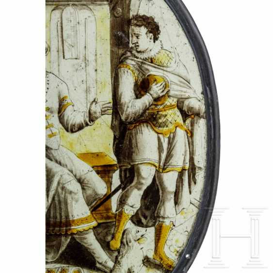 """Oval roundel """"Farewell to the Prodigal Son"""", Netherlands, around 1550 - photo 3"""