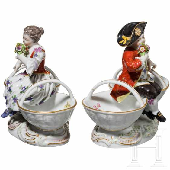A pair of small figurative saliers, Meissen, 19th century - photo 2