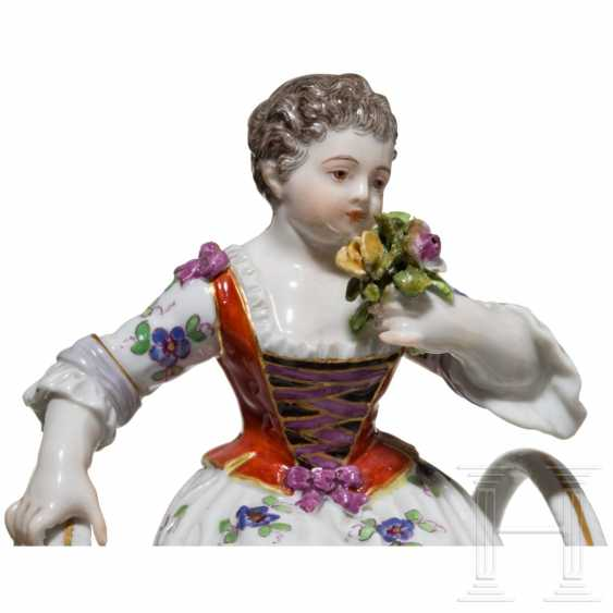 A pair of small figurative saliers, Meissen, 19th century - photo 4
