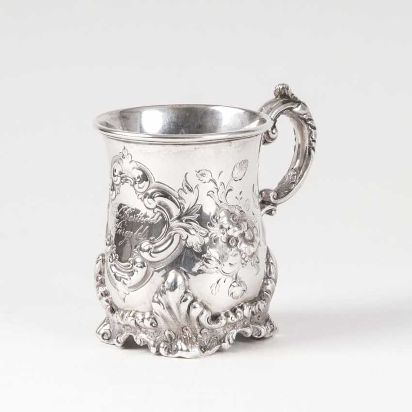 Brahmfeld & Gutruf founded in 1743 in Hamburg. Late Biedermeier Handle Mug - photo 1