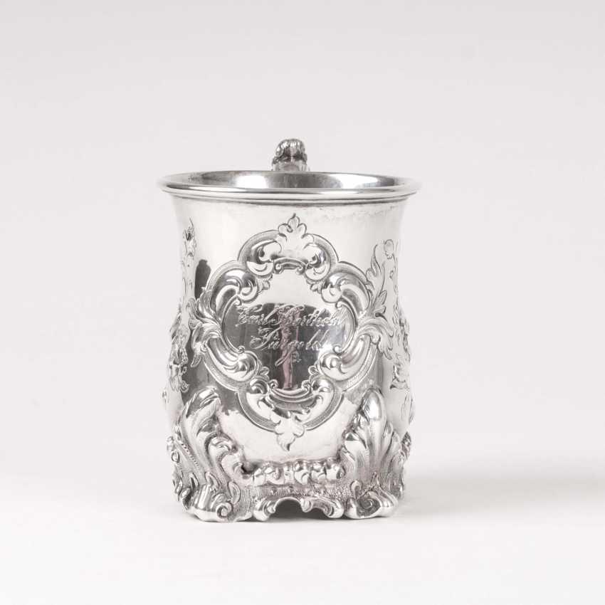 Brahmfeld & Gutruf founded in 1743 in Hamburg. Late Biedermeier Handle Mug - photo 2