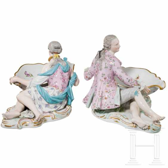 A pair of large saloons or serving bowls as counterparts, Meissen, 20th century - photo 2