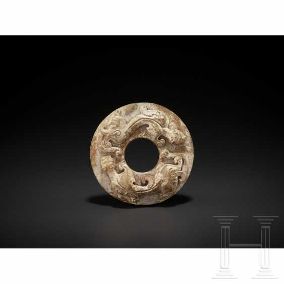 Chilong dragon disk in the style of the Sung to Ming times, China, around 1900 - photo 6