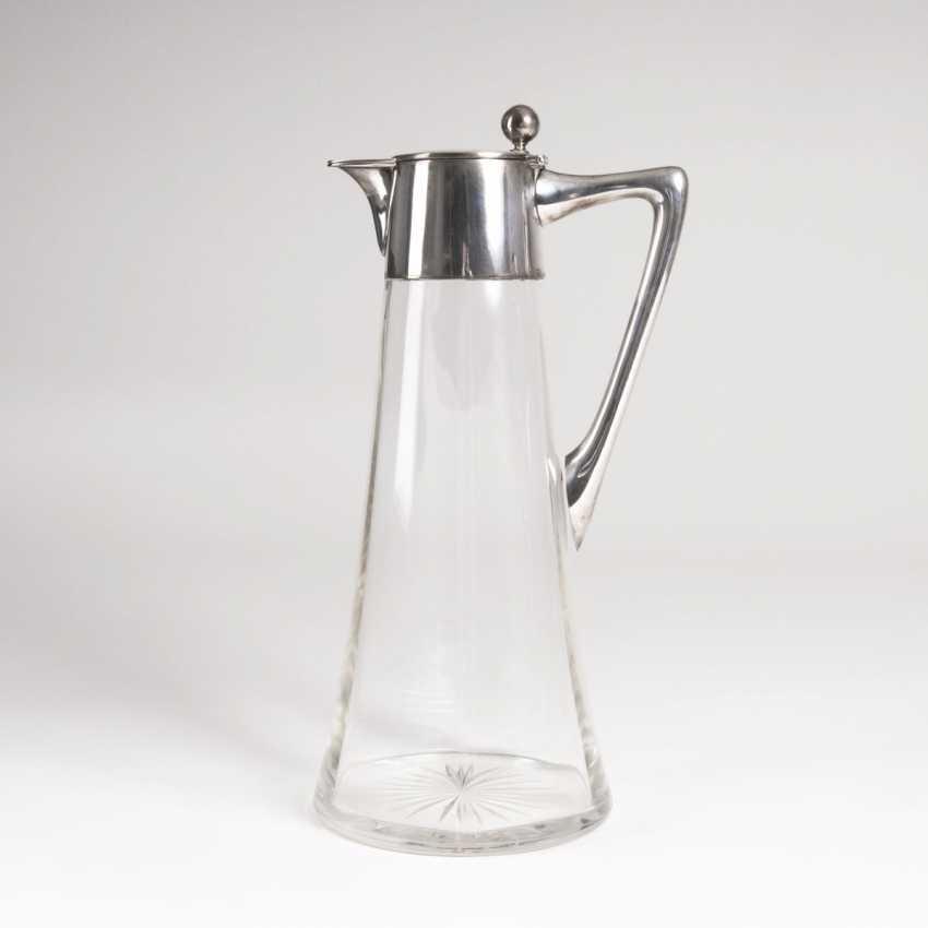 Wilhelm Binder founded in 1868 in Schwäbisch Gmünd. Wine decanter with silver mount - photo 1