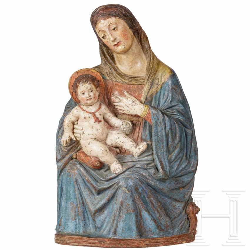 Rare Renaissance Madonna and Child, a so-called Maria Lactans, Sicily, 16th century - photo 1