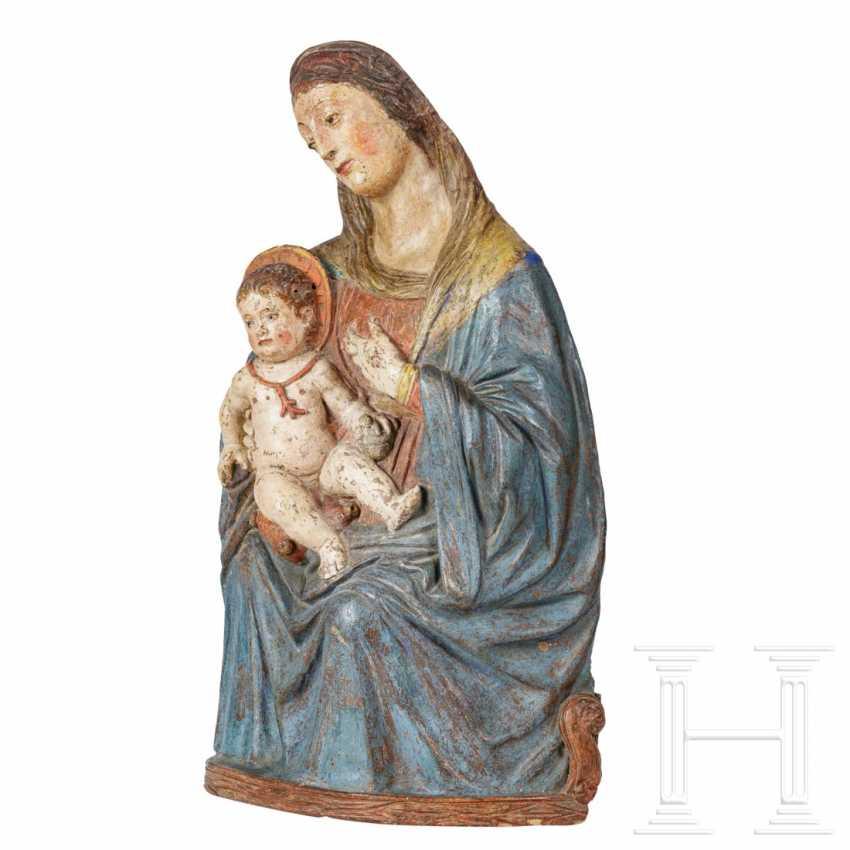 Rare Renaissance Madonna and Child, a so-called Maria Lactans, Sicily, 16th century - photo 3