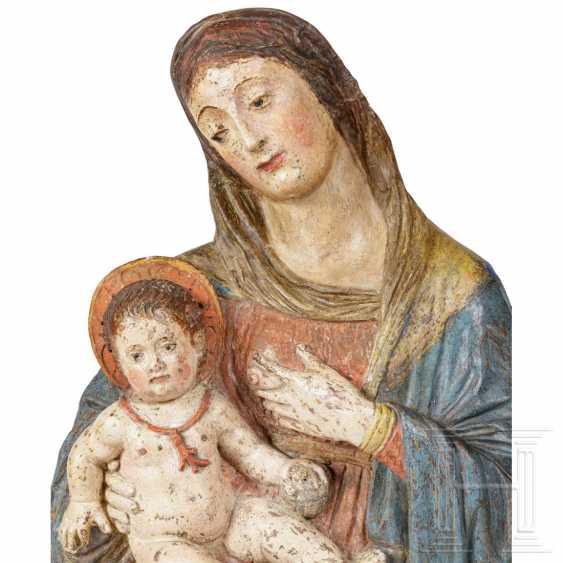 Rare Renaissance Madonna and Child, a so-called Maria Lactans, Sicily, 16th century - photo 4