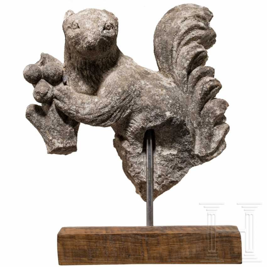 Stone sculpture of a squirrel, probably England, 19th century - photo 1