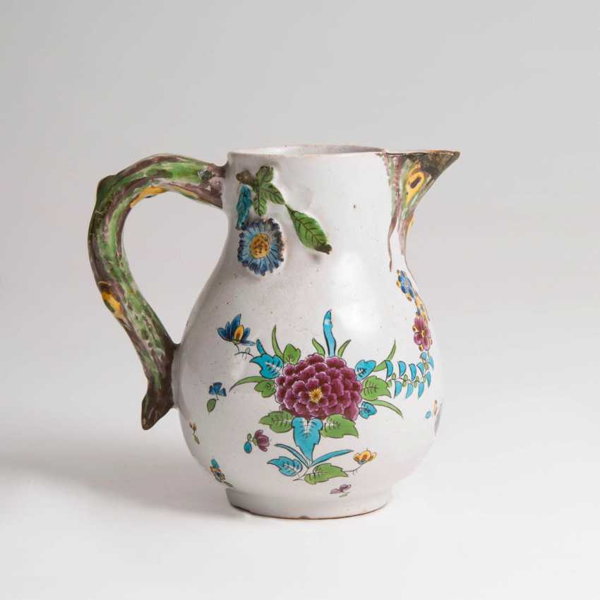 Faience jug with Asthenkel - photo 2