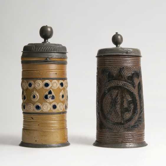 Pair Of Stoneware Rolls Jugs - photo 1